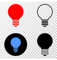 electric bulb eps icon with contour version vector image vector image