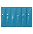 empty blue school lockers vector image vector image