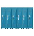 empty blue school lockers vector image vector image