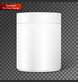empty white cylindrical box vector image