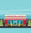 facade of cafe flat vector image vector image