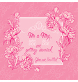 flowers pink card 3 380 vector image vector image