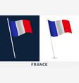 france flag waving national flag france vector image vector image