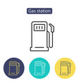 gas station icon petrol fuel pump sign vector image vector image