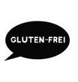 gluten free stamp in german vector image vector image