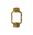 golden glitter gold color flat smart watch icon vector image vector image