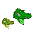 Green wild alligator vector image vector image