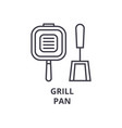grill pan line icon outline sign linear symbol vector image vector image