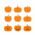 halloween scary pumpkins vector image