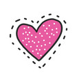 heart patch icon vector image