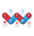 infographics with 5 steps or options blue and red vector image vector image