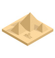 isometric great sphinx including pyramids of vector image vector image