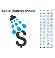 Money Shower Icon with Flat Set vector image vector image