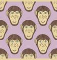 monkey print chimpanzee seamless pattern vector image vector image