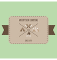 Mountain camping adventure badge graphic design vector image
