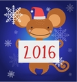 New Year Christmas monkey ape wild cartoon animal vector image vector image