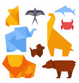 origami style of different animals vector image vector image