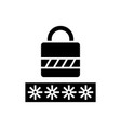 password - login lock icon vector image vector image