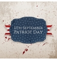 Patriot Day - 11th September Tag with Ribbon vector image vector image