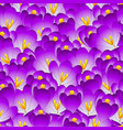 purple crocus flower seamless background vector image vector image