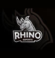 rhino logo design vector image vector image