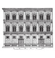 rucellai palace creations of alberti form a class vector image vector image