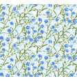 Seamless pattern with hand drawn flax