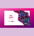 sex shop neon landing page vector image