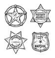 Sheriff stars vector image