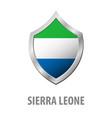 sierra leone flag on metal shiny shield vector image