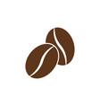 simple coffee bean icon vector image vector image
