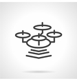 Simple line drone icon vector image