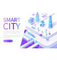 smart city website with streets and transport vector image
