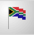 south africa waving flag creative background vector image vector image