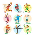sport people sportsmen woman and man flat fitness vector image vector image
