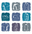 sportswear icons vector image