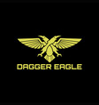 sword dagger eagle vector image vector image