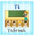 Teach vector image
