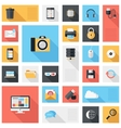 Technology and media icons vector image vector image