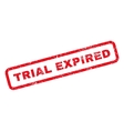 Trial Expired Rubber Stamp vector image vector image