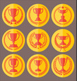 trophy and awards retro vintage collection 6 vector image vector image