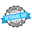 veterans day stamp sign seal vector image vector image