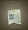 Vintage Label Ripped paper sale vector image
