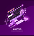 web seo isometric composition vector image vector image
