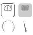 weights icon a set of several elements of arrows vector image vector image