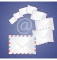 White detailed envelopes vector image