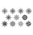 wind rose marine wind roses compass nautical vector image vector image
