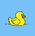yellow toy duck icon vector image vector image