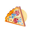 slice of pizza on a white vector image