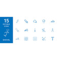 15 shovel icons vector image vector image